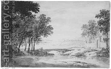 Both Point Of The Brush And Grey Ink And Wash Over Pen And Brown Ink by Dutch School - Reproduction Oil Painting