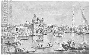 Pen And Black Ink And Grey Wash by (after) Francesco Guardi - Reproduction Oil Painting