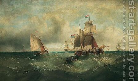 Shipping On A Swell by (after) Edward King Redmore - Reproduction Oil Painting