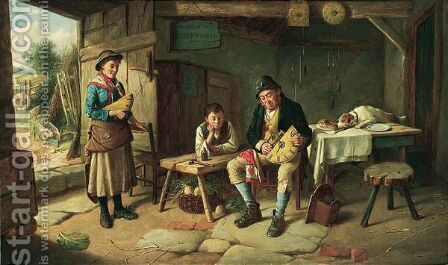 M murphy - The Clockmaker by Charles Hunt - Reproduction Oil Painting