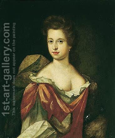 Portrait Of Dorothy Coffin (B.1650) by (after) Kneller, Sir Godfrey - Reproduction Oil Painting