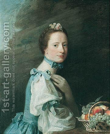 Portrait Of Lady Milbanke by Allan Ramsay - Reproduction Oil Painting