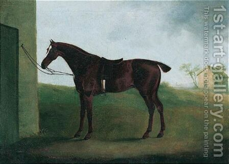 A Chestnut Hunter In A Landscape by Daniel Clowes - Reproduction Oil Painting