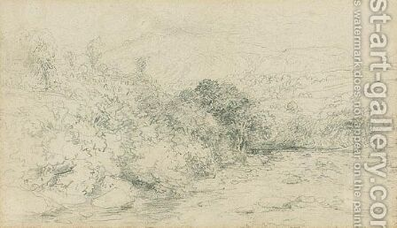 Landscape Drawing by David Cox - Reproduction Oil Painting