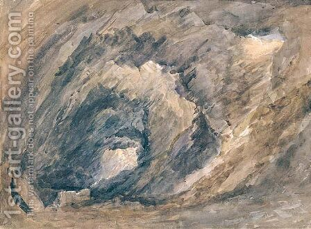 The Interior Of A Cave by David Cox - Reproduction Oil Painting