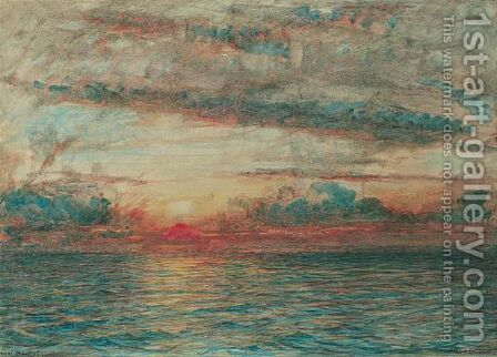 The Bay Of Bengal - In Battle Array Gathering For The Monsoon by Albert Goodwin - Reproduction Oil Painting