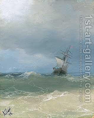 High seas 3 by Ivan Konstantinovich Aivazovsky - Reproduction Oil Painting