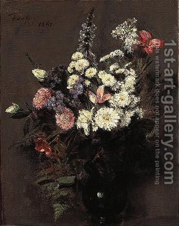 Fleurs D'Automne by Ignace Henri Jean Fantin-Latour - Reproduction Oil Painting
