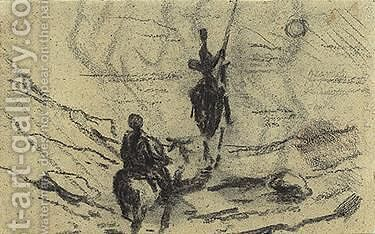 Don Quixote Et Sancho Pansa by Honoré Daumier - Reproduction Oil Painting