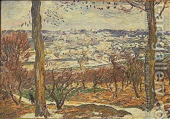 Paysage De Neige Aux Environs De Paris by Henri Lebasque - Reproduction Oil Painting