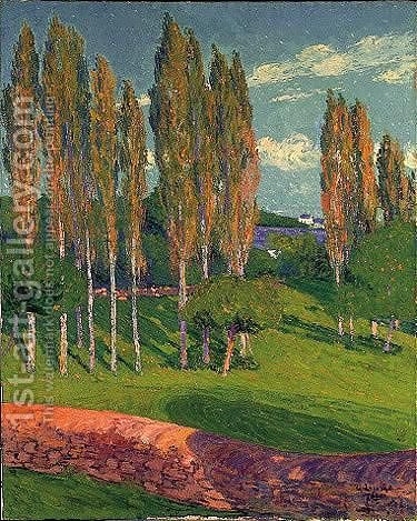 Les Peupliers Au Printemps by Gustave Loiseau - Reproduction Oil Painting