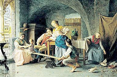L'Altalena by Giovanni Battista Torriglia - Reproduction Oil Painting