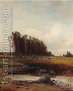 Untitled by (after) Alexei Kondratyevich Savrasov - Reproduction Oil Painting