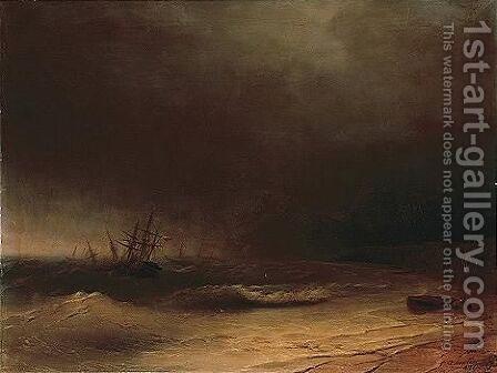 Untitled by (after) Ivan Konstantinovich Aivazovsky - Reproduction Oil Painting