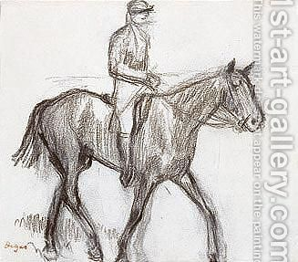 Cheval Et Jockey by Edgar Degas - Reproduction Oil Painting