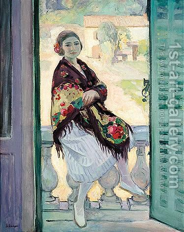 Sur Le Balcon by Henri Lebasque - Reproduction Oil Painting