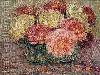 Roses by Henri Eugene Augustin Le Sidaner - Reproduction Oil Painting
