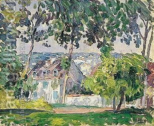 Maison A Travers Les Arbres by Henri Lebasque - Reproduction Oil Painting