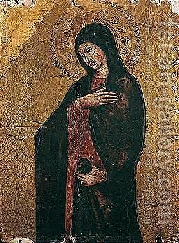 The madonna by (after) Bicci Di Lorenzo - Reproduction Oil Painting