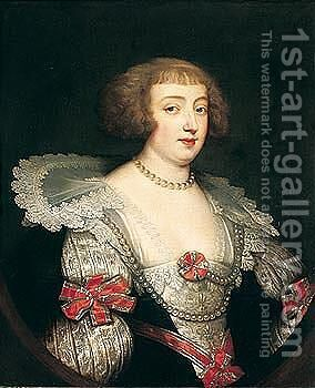Portrait Of A Lady, Probably Margaret, Princess Of Lorraine And Duchess Of Orleans (1615 - 1672) by (after) Dyck, Sir Anthony van - Reproduction Oil Painting