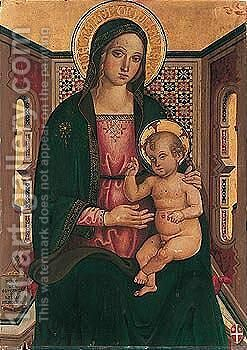The madonna and child by (after) Andrea D'assisi - Reproduction Oil Painting