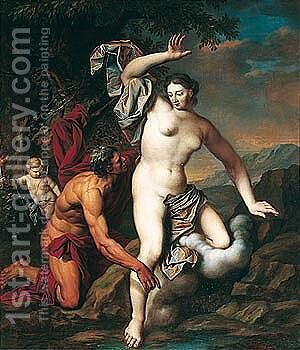 Alpheus and Arethusa by (after) Arnold Houbraken - Reproduction Oil Painting