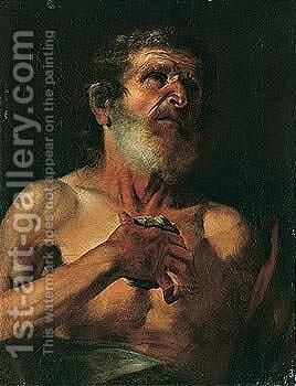 Saint Jerome by (after) Gaspare Traversi - Reproduction Oil Painting