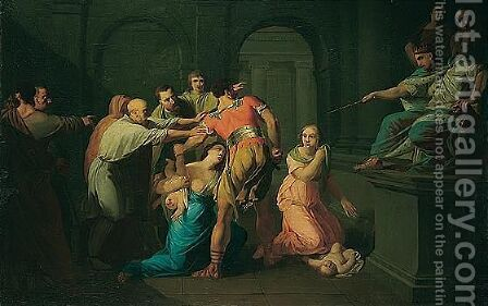 The judgement of Solomon by (after) Johann Heinrich The Elder Tischbein - Reproduction Oil Painting
