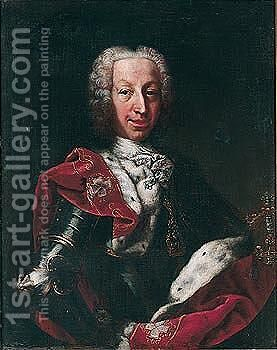 Portrait Of Charles-Emmanuel III, Duke Of Savoy And King Of Sardinia (1701-1773) by (after) Maria Giovanni Clementi (Clementina) - Reproduction Oil Painting