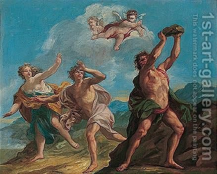 Polyphemus attacking Acis and Galatea by (after) Loo, Carle van - Reproduction Oil Painting