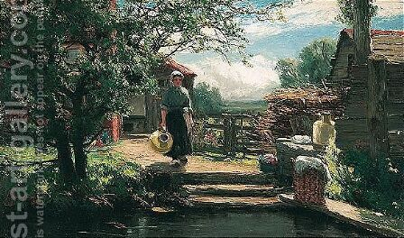 A Cottage Door In Holland by David Farquharson - Reproduction Oil Painting