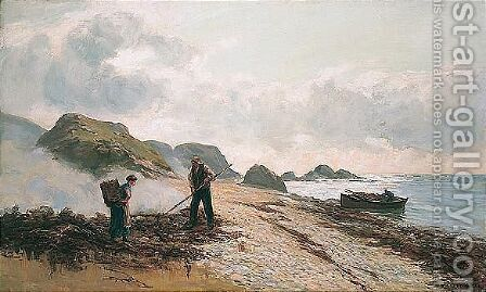 On The Beach by Andrew Black - Reproduction Oil Painting