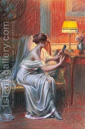Jeune Fille Se Regardant Dans Un Miroir by Delphin Enjolras - Reproduction Oil Painting
