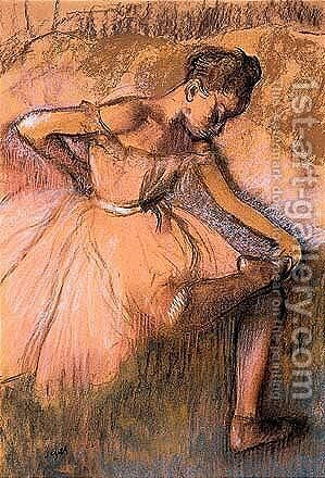 Danseuse Rose by Edgar Degas - Reproduction Oil Painting