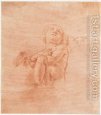 Study of an angel by Antonio D'enrico (Tanzio Da Varallo) - Reproduction Oil Painting