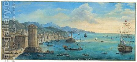 Bears Inscription Napoli by (after) Orazio Grevenbroeck - Reproduction Oil Painting