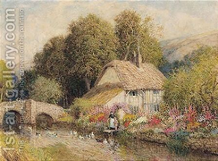 Grandmother's Garden by Arthur Claude Strachan - Reproduction Oil Painting