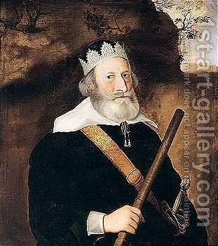 Portrait Of Sir William Monson (1569-1643) by (after) Johnson, Cornelius I - Reproduction Oil Painting