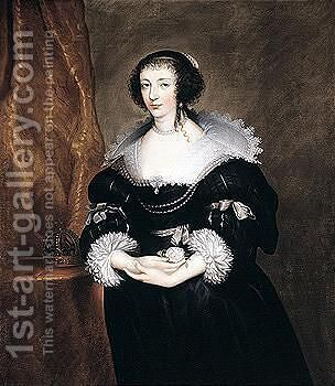 Portrait Of Henrietta Maria by (after) Dyck, Sir Anthony van - Reproduction Oil Painting