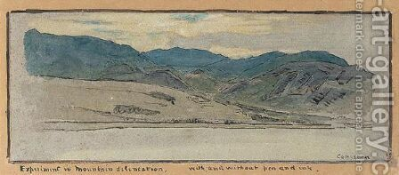 Two Studies Of The Old Man Of Coniston, Lancashire by Albert Goodwin - Reproduction Oil Painting