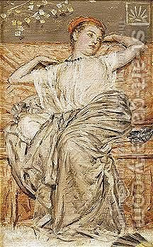 Study Of A Draped Figure by Albert Joseph Moore - Reproduction Oil Painting