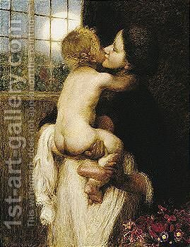 The Kiss by Edward Stott - Reproduction Oil Painting