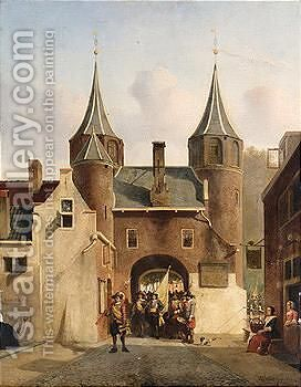 Untitled by Hendricus Johannes Scheeres - Reproduction Oil Painting