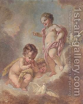 Putti by Continental School - Reproduction Oil Painting