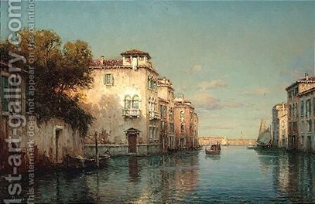A venetian canal by Antione Bouvard - Reproduction Oil Painting