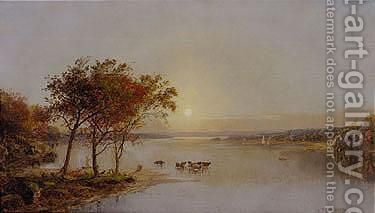 Upper Hudson 2 by Jasper Francis Cropsey - Reproduction Oil Painting