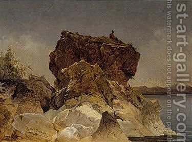 The lookout, Burlington, Vermont by Martin Johnson Heade - Reproduction Oil Painting