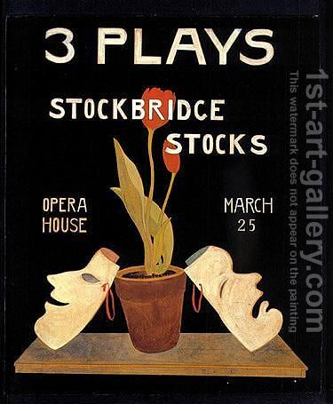 Three plays-stockbridge by Charles Demuth - Reproduction Oil Painting