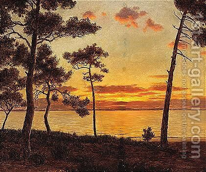 Sunset by Ivan Fedorovich Choultse - Reproduction Oil Painting
