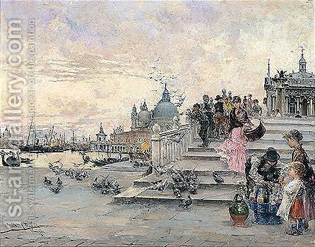 Vista De Venecia (View Of Venice) by Arcadio Mas Y Fondevila - Reproduction Oil Painting